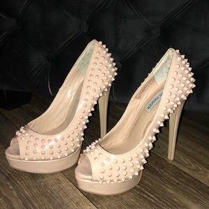 Nude spike Steve Madden heels